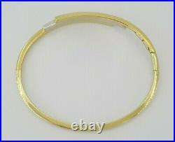0.08 ct Roberto Coin 18k Gold Two-Tone Diamond Bracelet Bangle 9.4 g