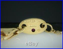 $1380 18K Gold Roberto Coin Pois Moi Round Pave Diamond Square Pendant Necklace