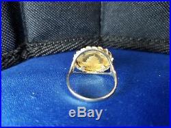14KT Lady's Yellow Gold Panda Ring 3.9 1995.999 1/20 oz au Panda