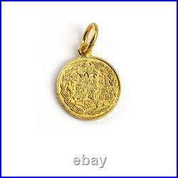 14K Gold Goddess Athena Coin Pendant