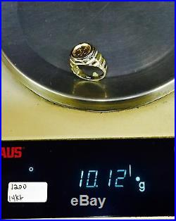 14K Gold Mens 17MM COIN RING with a 22K MEXICAN DOS PESOS Coin