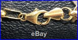 14K Milor Yellow Gold Charm Bracelet Italian 9 Coins