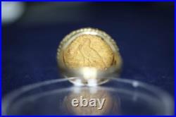 14k Yellow Gold 1915 Indian Head $2.5 Dollar Gold Coin Ring Sz 6