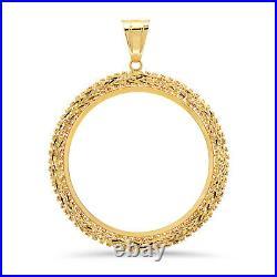 14k Yellow Gold 4 Prong 50 Peso Centenario Coin Bezel