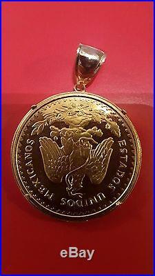14k Yellow Gold 50 Pesos Coin Bezel