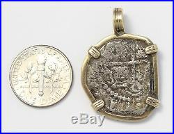 14k Yellow Gold Bezel with Antique Coin Necklace Pendant