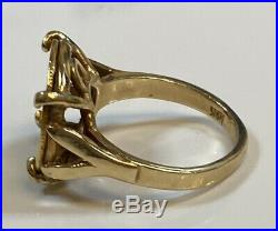 14k Yellow Gold Ring with a Type 2 Indian Head Gold Coin, 6.3 g Jewelry