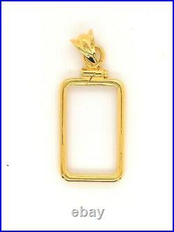14k Yellow Gold Screw Top Coin Bezel 2.5 gram Pamp Suisse Fortuna Gold Bar