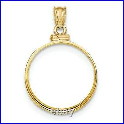 14k Yellow Gold Screw top 1/2 oz American Eagle Coin Bezel