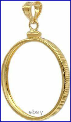 14k Yellow Gold Screw top 1/4 oz American Eagle Coin Bezel