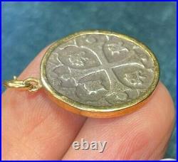 14k Yellow Gold Widow's Mite Coin Pendant. Generosity in Poverty b80 19