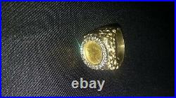 14k Yellow Gold and Diamond Ring with 1851 Liberty Head Coin Size 10
