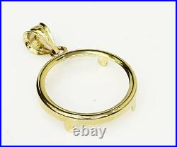 14k solid Yellow gold 4-Prong Coin Bezel Frame 20 Mexican Pesos #11