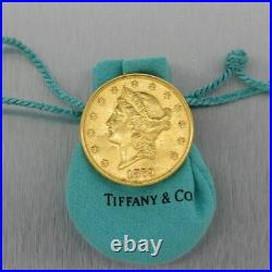 1879 Tiffany & Co. 22k Yellow Gold $20 Gold Liberty Spy Coin