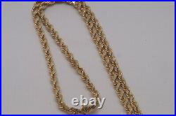 1892'S' $20 Liberty Gold Double Eagle Coin 20 Diamond Cut Rope Chain Necklace