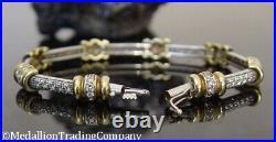 18K Yellow White Gold Roberto Coin 2+ Carat Diamond Tennis Bracelet Small Wrist