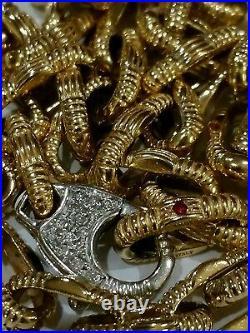 18k Yellow White Gold Necklace Roberto Coin Appassionata Designer AMAZING RARE