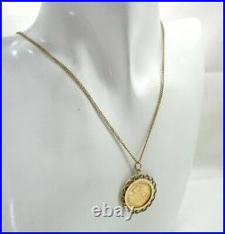 1913 Half Sovereign Coin Pendant And Chain