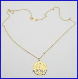 1913 Indian Head Coin Pendant 21.6k (. 900) and 14k Yellow Gold Necklace 18.0