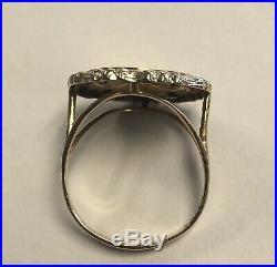 1987 1/20 oz 5 Yuan Panda Coin 14K Yellow Gold Ring Ring Size 8 1/2. 4.9 Grams