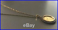 1/10 oz Krugerrand Gold Coin Necklace With 18 Chain