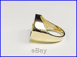 22K FINE GOLD 1/10 OZ US LIBERTY COIN in 14k gold Ring 20 MM
