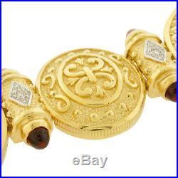 22K Gold Coin American Eagle 14K Bracelet Estate Diamond Bullet Link Mens Ladies