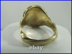 22K Solid Gold Indian head 1911 US Coin Men's Ring Size 11.25 #R678
