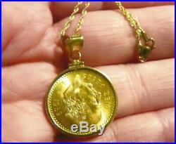 22k gold 10 pesos coin pendant necklace