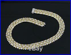 $30,200 Roberto Coin 18K Yellow White Gold Appassionata Woven Diamond Necklace