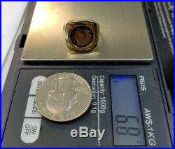 330AD Ancient Coin Ring Solid 14k Yellow Gold Sz5.75