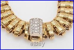 $7350 Signed Roberto Coin. 50ct VS G Diamond 18k Yellow Gold Bracelet 25g