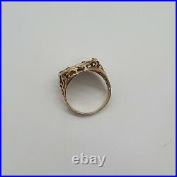9ct Gold Maximiliano Coin Ring Sovereign Style Size K