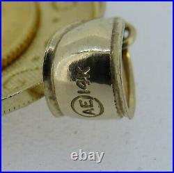 AE 14k Yellow Gold Bezel Pendant With2009 1/10 Oz. Gold Eagle Coin 6.07 Grams