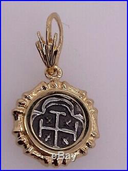 ATOCHA Coin Bamboo Pendant 14K Yellow Gold Treasure Shipwreck Coin Jewelry