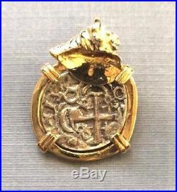 ATOCHA Coin Conch Shell Pendant 14k Gold Sunken Treasure Shipwreck Jewelry