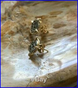 ATOCHA Coin Earrings 14K Yellow Gold Ladies Sunken Treasure Shipwreck Jewelry
