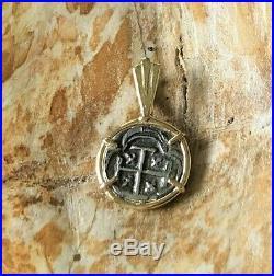 ATOCHA Coin Mini Pendant 14k Yellow Gold Treasure Shipwreck Jewelry