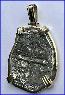 ATOCHA Coin Pendant 14K Gold 8 Reale Sunken Treasure Jewelry