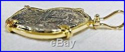 ATOCHA Coin Pendant 14k Gold Large with 8 Reale Silver Treasure Shipwreck Jewelry