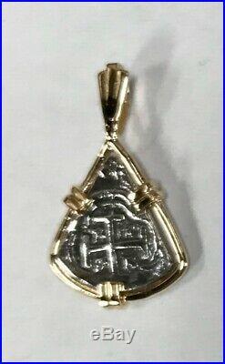 ATOCHA Coin Pendant 14k Yellow Gold Sunken Treasure Shipwreck Coin Jewelry