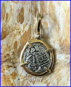 ATOCHA Coin Pendant 14k Yellow Gold Treasure Coin Jewelry
