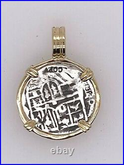 ATOCHA Coin Pendant 14k Yellow Gold Treasure Shipwreck Jewelry