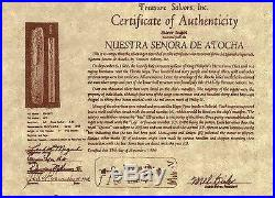 ATOCHA Coin Pendant Fish with coin 14k Frame Sunken Treasure Shipwreck Jewelry