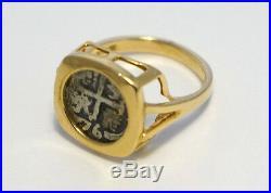 ATOCHA Coin Ring 14k Gold Ring Sunken Treasure Shipwreck Coin Jewelry