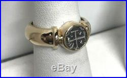 ATOCHA Coin Ring 14k Yellow Gold Sunken Treasure Shipwreck Jewelry Ladies Mens