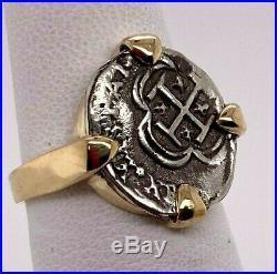 ATOCHA Coin Ring Ladies 14K Yellow Gold Sunken Treasure Coin Jewelry