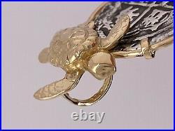 ATOCHA Coin Turtle Pendant 14K Gold Sealife Sunken Treasure Shipwreck Jewelry