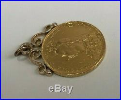 A 22k gold 1889 full Sovereign Coin Pendant / Charm 8.80g