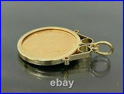 A 22k gold 1904 Half Sovereign Coin in 9CT gold Mount Pendant